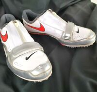Nike Zoom Rival Brother 2 Mens White Spike Cleat Running Shoes 502620-160 Size 9