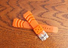 Z20 Monster / Zuludiver PU Rubber Divers Watch Strap 20mm Orange