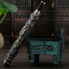 Jinhao Vintage Gray Fountain Chinese Dragon Playing Pearl 3d Embossed