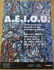 GERMAN EXHIBITION POSTER 2013 A.E.I.O.U. - AUSTRIAN ASPECTS IN WÜRTH COLELCTION