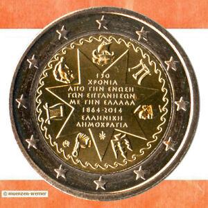 Sondermünzen Griechenland: 2 Euro Münze 2014 Ionische Inseln Sondermünze