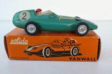 SOLIDO   VANWALL F1    REF 104   SÉRIE 100   1958/68   BON ÉTAT  BOITE D'ORIGINE