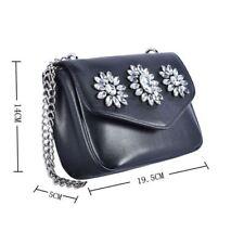 Women's Designer Style Flower Jewel Detail Mini Bag Ladies Handbag