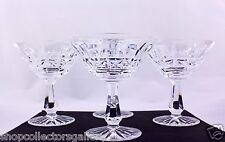 SET OF 4 WATERFORD CRYSTAL KYLEMORE CHAMPAGNE/TALL SHERBET GLASSES - MINT