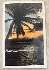 PEARL HARBOR OAHU HAWAII ANTIQUE POSTCARD POST CARD