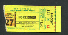 1978 Foreigner Cheap Trick Concert Ticket Stub Tx Double Vision Heaven Tonight