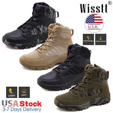 Mens Military Tactical Ankle Boots Army Hiking Shoes Desert Combat Hunting Boots
