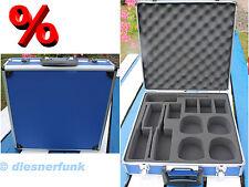 Transportkoffer für 4 Funkgeräte bis 29cm Länge Alukoffer Security Betriebs FUNK