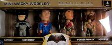 BATMAN VS SUPERMAN 4 Figuren Set - BOBBLE HEAD / MINI WACKY WOBBLER