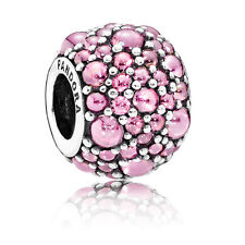 Pandora Joyería amuleto brillante gotas Rosa 791755pcz