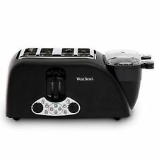 West Bend TEM4500W Egg and Muffin Toaster 4 Slice Black