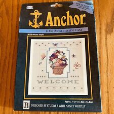 Anchor Coats Clark Counted Cross Stitch Kit Welcome Sampler Hardanger Made Easy