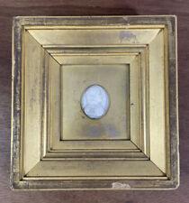 More details for antique napoleon bonaparte plaster cameo in gilt frame