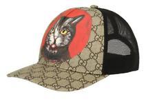 NEW GUCCI CURRENT GG SUPREME CAT WEB DETAIL BASEBALL CAP HAT 58/M