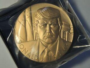 Donald J Trump bronze medal 3 inch U. S. Mint 20MC OGP Still sealed in packaging