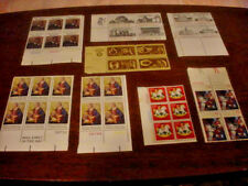 U S A  UNCANCELLED STAMPS 20 XMAS 4 BICENTINIAL  6 PAUL DUNBAR POET 4 ARCHITECT