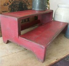 Primitive Old Red Two Step Bench Riser Pattern/Plan WN150