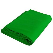 Fond Tissu pour Studio Photo Video 604 3x6 mt Vert Chromakey Pur Coton 140g/sqm