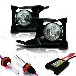 Fit 2018 Forester Fog Lights Glass Lens w/Wiring Kit & HID Kit - Clear
