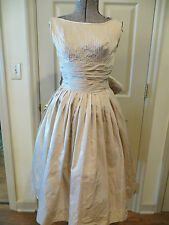 VINTAGE 50's SATIN  TAFFETA TULLE PARTY WEDDING DRESS