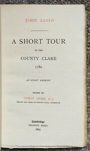 A Short Tour in the County Clare 1780 by [Lloyd, John], 1893 - Very Good Cond.