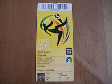 TICKET WORLD CUP 2010 SOUTH AFRICA - URUGUAY 16/6/2010