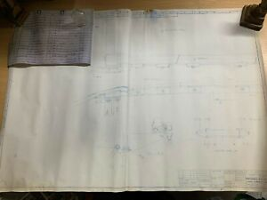 1982 HUGE BLUEPRINT OF BRITISH RAIL PANTOGRAPH PANHEAD ASSEMBLY 59cm x 85cm (P4)