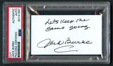 Jack Burke signed autograph auto 2x3.5 cut Golf Hall of Fame PSA Slabbed