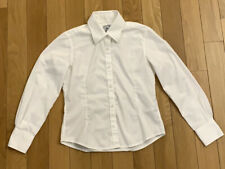 Blooks Girls Long Sleeve White Button Up Blouse Shirt Pointy Collar Size 10