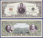 25-US Civil War Abraham Lincoln  Dollar Bills - NOVELTY- Collectible  item H1 for sale