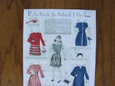 1946 Vogue Patterns Paper doll Set Repro