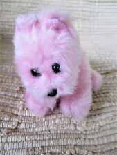 """BABW Kennel Pals Mini Westie Terrier Puppy Dog Pink 7"""" Plush Magnet Neck Scarf"""