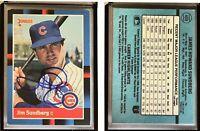 Jim Sundberg Signed 1988 Donruss #488 Card Chicago Cubs Auto Autograph