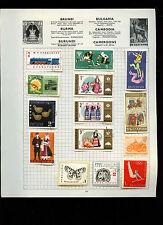 La Bulgaria pagina dell' album di francobolli #V 2644