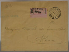 POSTA MILITARE 90 A RACCOMANDATA TIMBRO ALPINI 4.2.1917 #XP436G