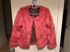 Hot Pink Faux Fur Women's Jacket