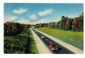 NJ New Jersey vintage post card - Scene on Garden State Parkway