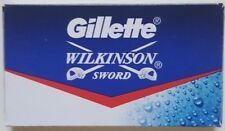 8 Gillette Wilkinson Sword + 1 bonus Gillette Blade DE Safety Razor