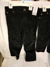 NWT Matching 2T & 5T Boy's Black Corduroy Pants