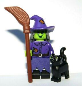 Lego Wacky Witch Minifigure Figure & Black Cat  Halloween Monster