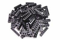 Black Brick 1x6 with Holes 50 Pieces TCM Compatible Bricks QTY