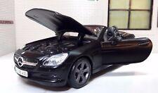 1:24 Escala Mercedes Slk Clase 2011 31206 R172 V6 V8 NEGRO SATINADO Maisto