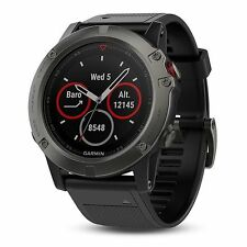 Garmin Fenix 5X Sapphire Slate Gray with Black Band GPS Watch 51mm 010-01733-00