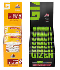 20 x Gizeh Slimfilter plus 20 x Gizeh Black Fine Zigarettenpapier Papers Filter
