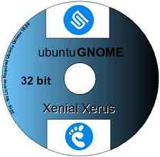 16.04.2 UBUNTU GNOME xenial XERUS Linux OS 32 Bit DVD Inc LibreOffice & Firefox