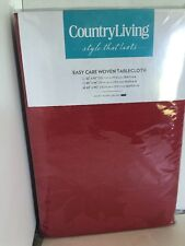 """Country Living Christmas Poinsettia Tablecloth Cranberry Red 60""""x102"""" NEW"""