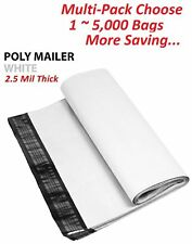 1~5000 Multi-Pack 5x7 White Poly Mailers Shipping Envelopes Self Sealing Bags