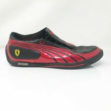 Puma Mens Ferrari SL Street SF Red Black Running Shoes Lace Up Low Top Size 10