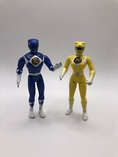 1995 Bandai Mighty Morphin Blue And Yellow Power Rangers Action Figure