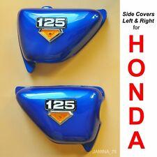 Honda CB125 S CB 125 S 80 81 82 Blue Side Cover Panel & Emblem Left & Right NEW